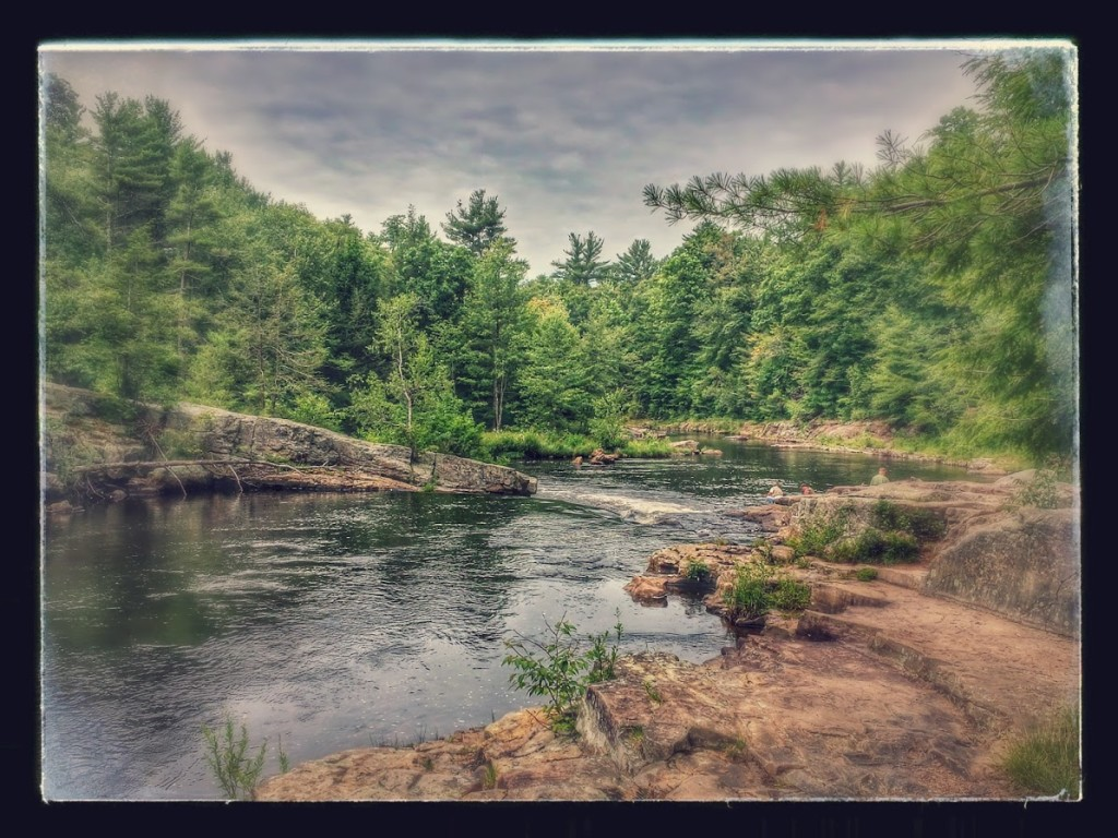 The Tobyhanna Creek from just above the Falls.