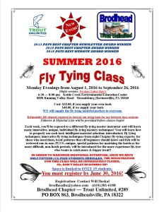 Fly Tying Classes Flyer 2016 COLOR Final