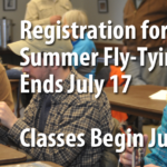Brodhead Chapter of Trout Unlimited Summer 2017 Fly Tying Class Registration Deadline July 17